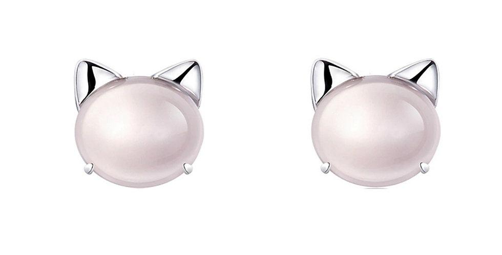 Silver Shoppee Silver Plated Jhumki Earrings for Women (Pink) (SSER1415)