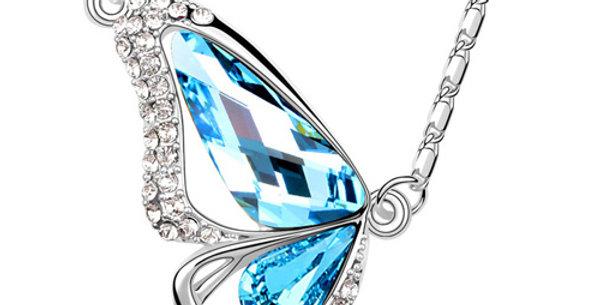 Silver Shoppee Pendant for Women (Silver Blue) (SSPD0510A)