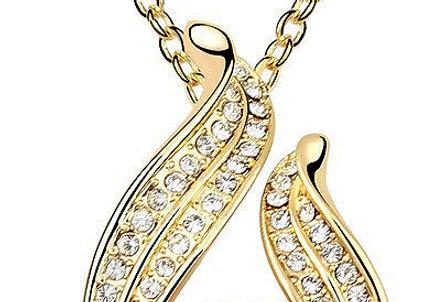 Silver Shoppee Pendant for Women (Golden) (SSPD0524A)