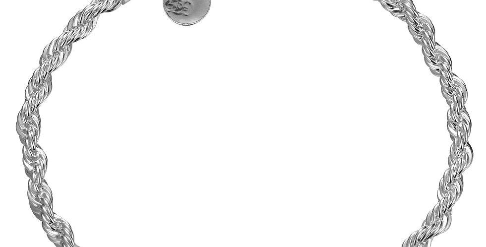 Silver Shoppee Striking Sterling Silver Bracelet for Girls and Women (SSBR1015)