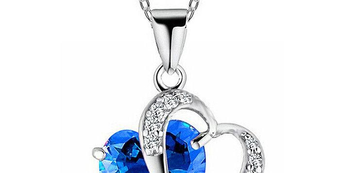 Silver Shoppee Pendant for Women (Blue) (SSPD0553C)