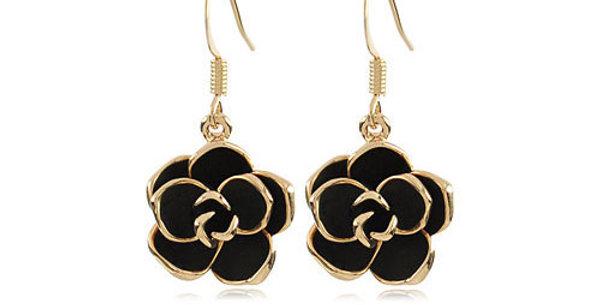 Wonder Flower 18K Yellow Gold Plated K Cubic Zirconia Dangle Earring for Girls