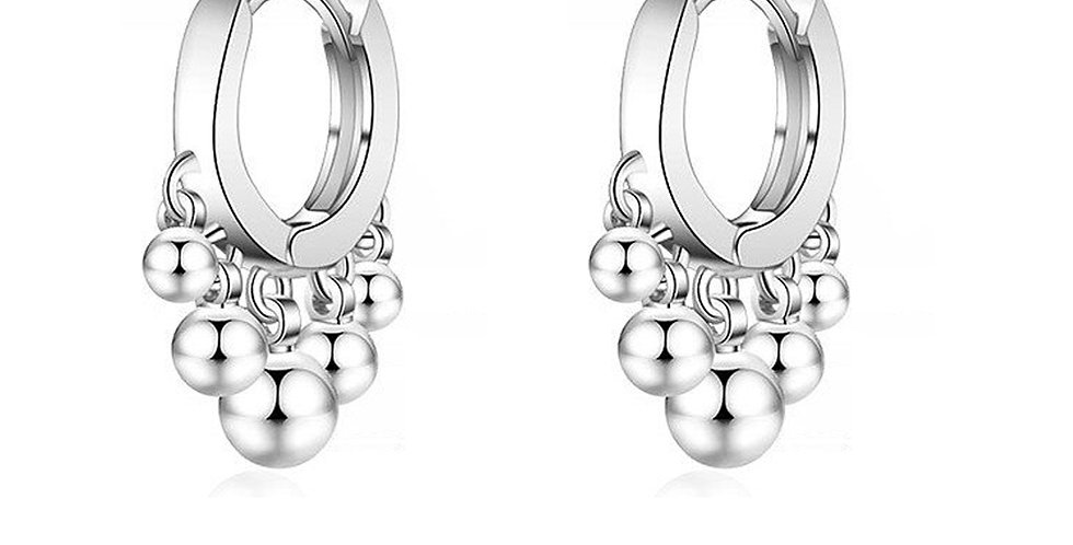 Valentine Special Sterling Silver Huggie (Bali) Earrings for Girls and Women
