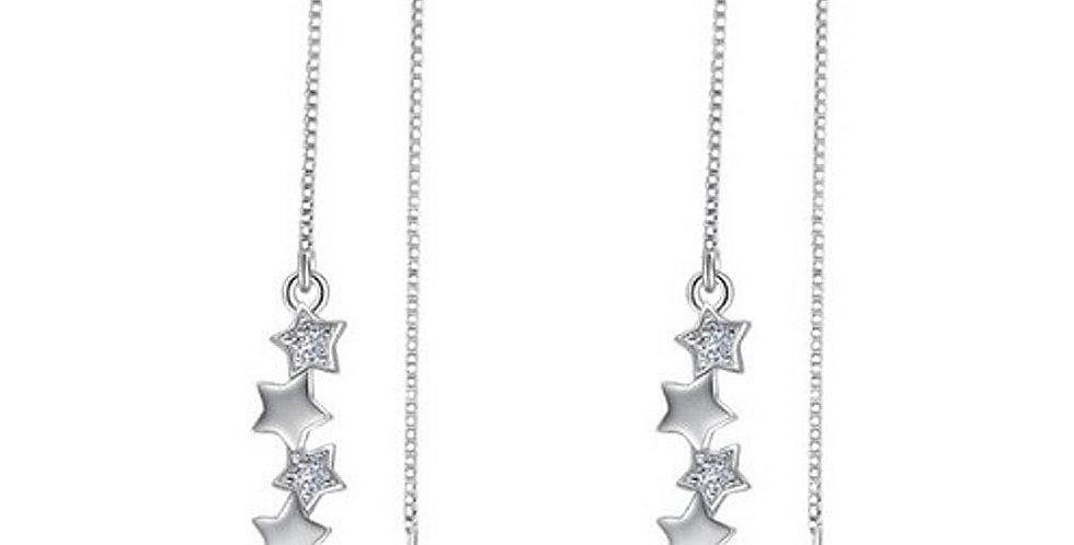 Silver Shoppee Silver Plated Jhumki Earrings for Women (White) (SSER1471)