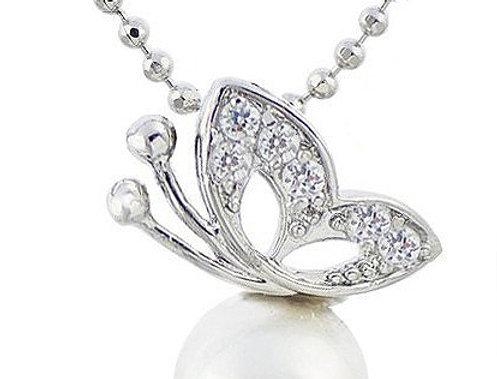 Silver Shoppee Pendant for Women (White) (SSPD0304)