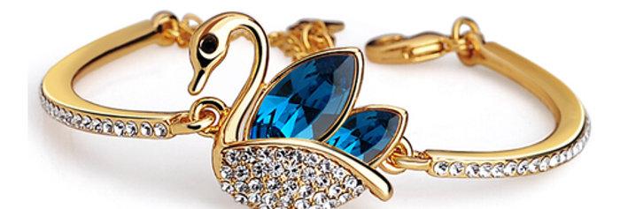 Silver Shoppee Charm Bracelet for Women (Golden) (SSBR0936B)