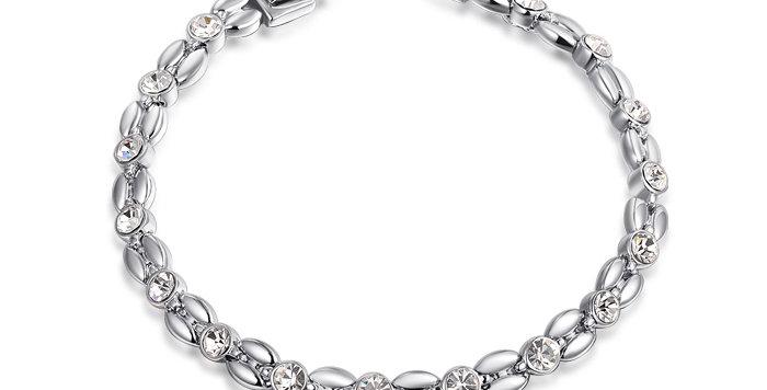 Grace White Gold Plated Austrian Crystal Sterling Silver Bracelet for Girls