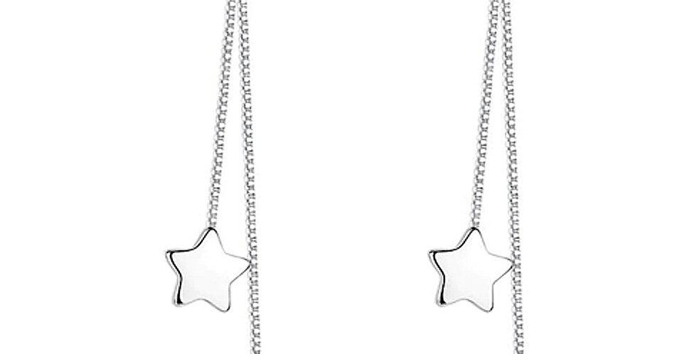 Silver Shoppee Silver Plated Jhumki Earrings for Women (White) (SSER1480)