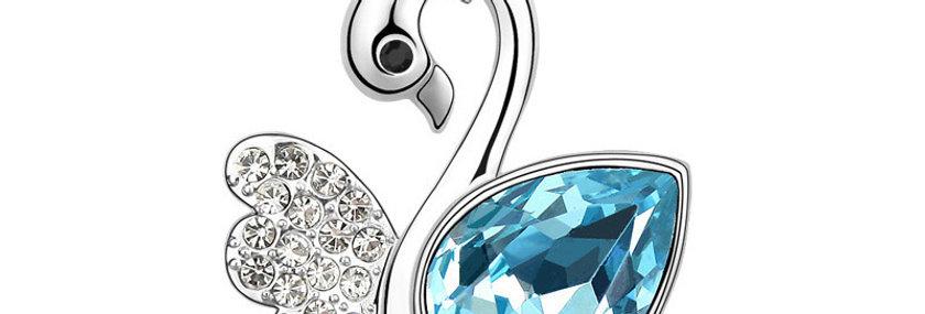 Silver Shoppee Pendant for Women (Blue) (SSPD0279A)