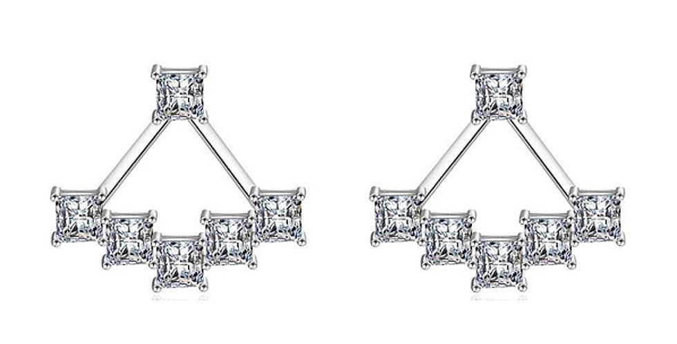 Silver Shoppee Silver Plated Jhumki Earrings for Women (White) (SSER1464)
