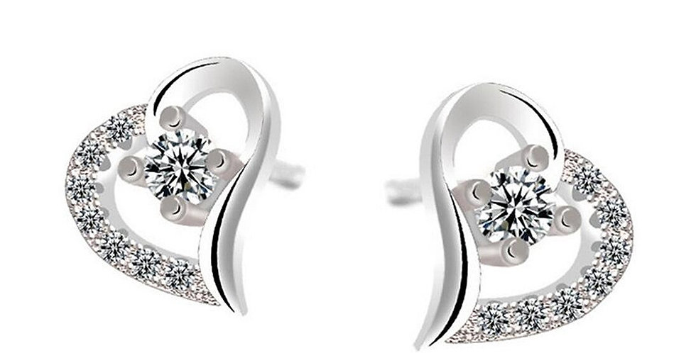 Valentine Day Special Sterling Silver Earrings for Baby Girls, Girls and Women
