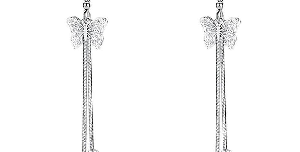 Silver Shoppee Silver Plated Jhumki Earrings for Women (White) (SSER1472)