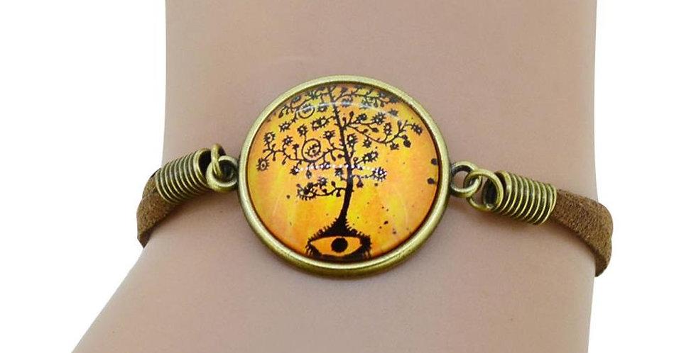 Silver Shoppee Charm Bracelet for Women (Orange) (SSBR0991)