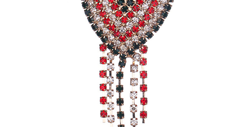Silver Shoppee Brooches for Women (Red) (SSBO0950)