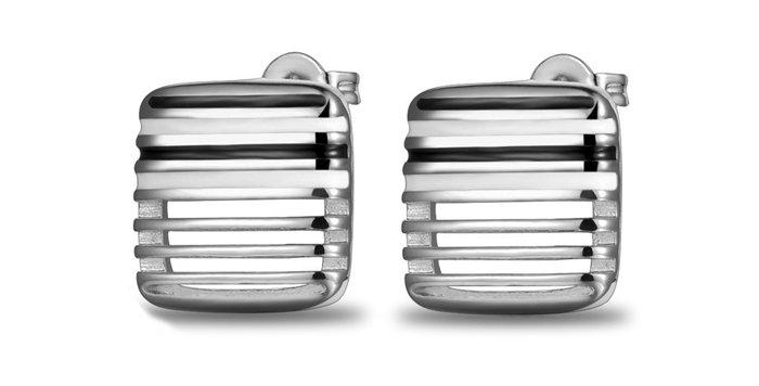 Silver Shoppee Jhumki Earrings for Women (Black) (SSER0292A)