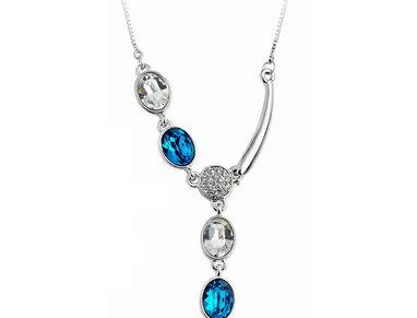 Silver Shoppee Pendant for Women (Blue) (SSPD0541A)