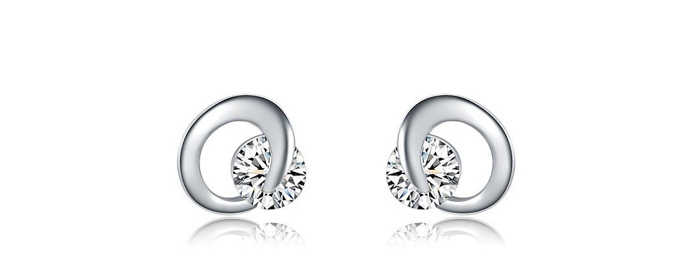 Captivating High Quality Genuine AAA Zircon Sterling Silver Earrings for Girls