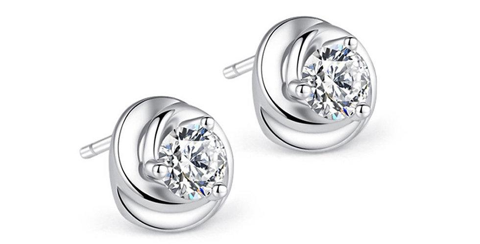 Sterling Silver Earrings for Baby Girls, Girls and Women (SSER1500)
