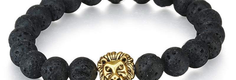 Silver Shoppee Roar Out Loud Bracelet for Girls and Women Black (SSBR1054C)