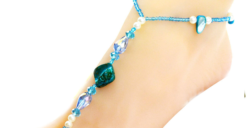 Silver Shoppee Poise Stone Anklet for Girls and Women