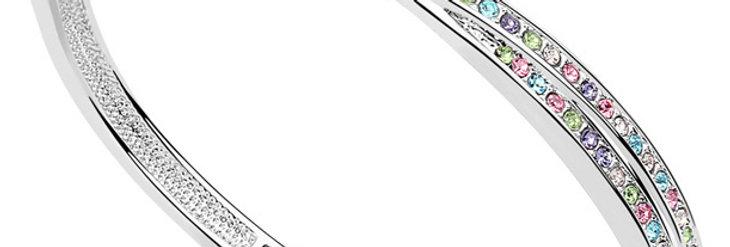 Silver Shoppee Charm Bracelet for Women (Multi-Colour) (SSBR0933A)