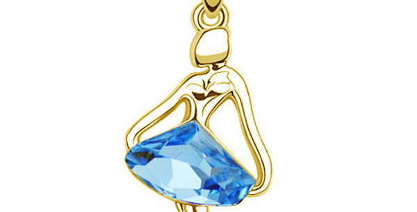 Silver Shoppee Pendant for Women (Blue) (SSPD0230B)