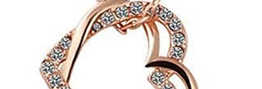 Silver Shoppee Pendant for Women (Golden) (SSPD0207B)