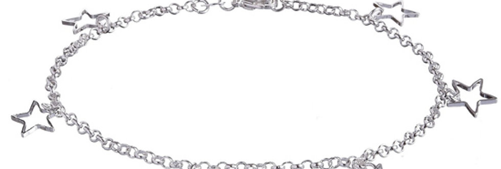 Silver Shoppee Spread The Love Sterling Silver Anklet for Women (SSAN3116)