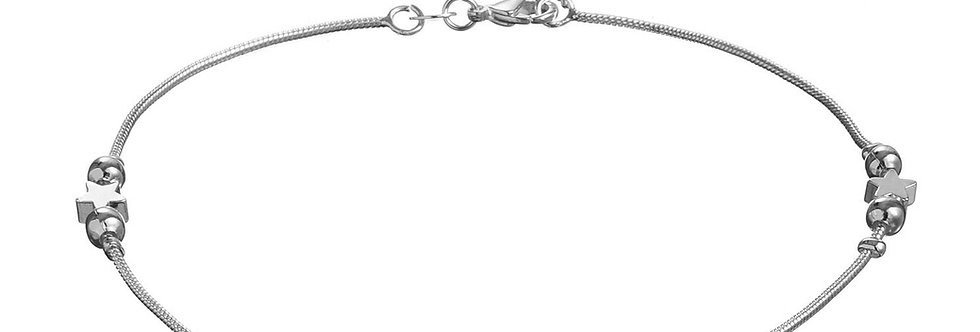 Silver Shoppee Flawless Sterling Silver Anklet for Girls and Women (SSAN3119)