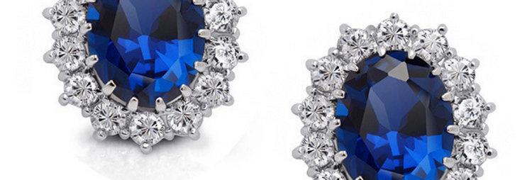 Magical LOVE 22K White Gold Plated Crystal Earrings for Girls