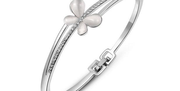 Dazzling You, Genuine Austrian Crystal Sterling Silver Bracelet for Girls