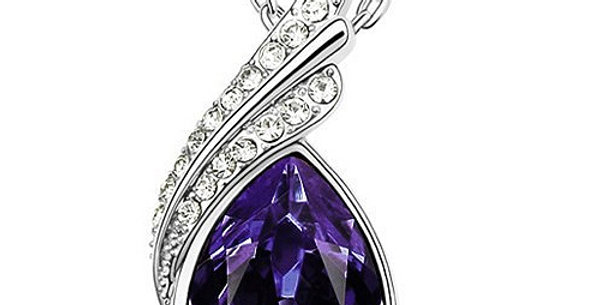 Dewdroplet Rhodium Plated Crystal, Cubic Zirconia Pendant for Girls and Women