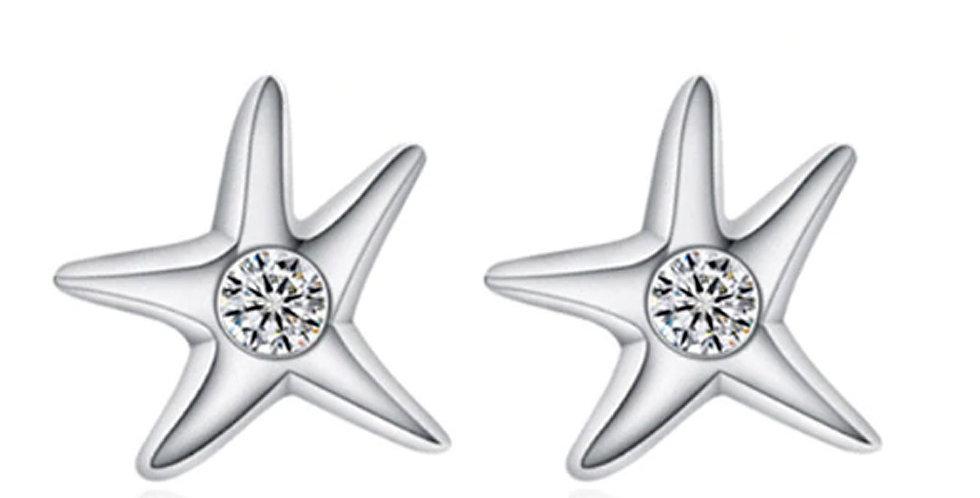 Silver Shoppee Silver Plated Jhumki Earrings for Women (White) (SSER1455)