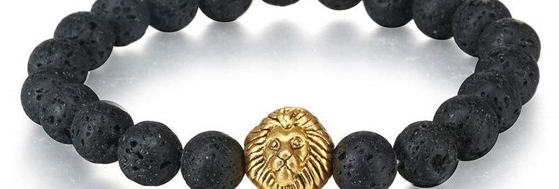 Silver Shoppee Roar Out Loud Bracelet for Girls and Women Black (SSBR1054A)