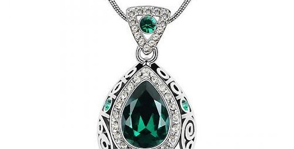 Valentine Special Rhodium Plated Crystal, Cubic Zirconia Pendant for Girls