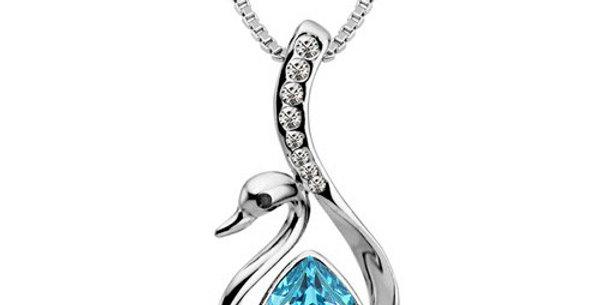 Silver Shoppee Pendant for Women (Silver Blue) (SSPD0514A)