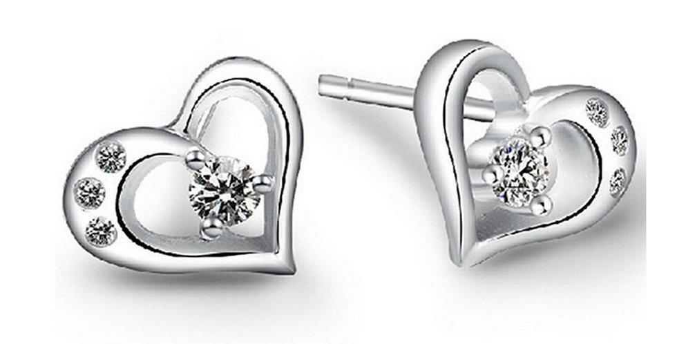 Sterling Silver Earrings for Baby Girls, Girls and Women (SSER1510)