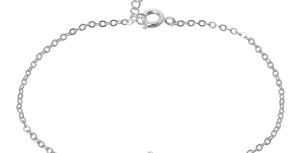 Silver Shoppee Sterling-Silver Anklet for Women (SSAN3107)
