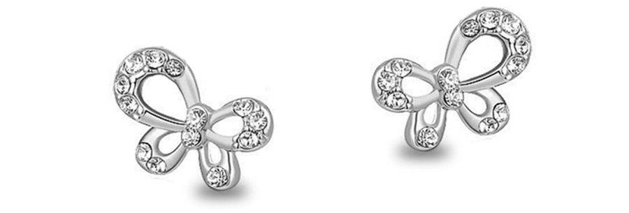 Swinging Spirits Rhodium Plated Cubic Zirconia Earrings for Girls and Women