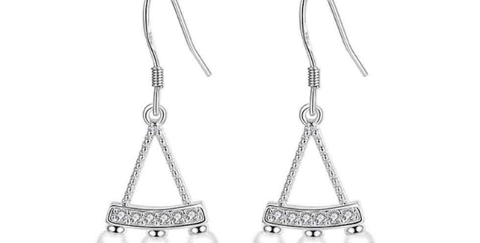 Silver Shoppee Silver Plated Jhumki Earrings for Women (White) (SSER1448)