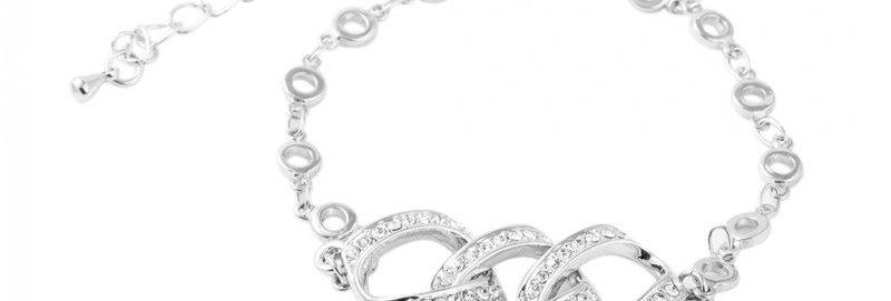 Silver Shoppee Silver Plated Charm Bracelet for Women (Silver) (SSBR1039)