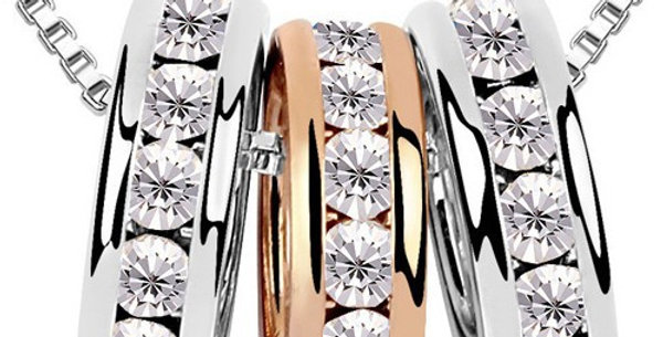 Darling 22K Rose Gold, Rhodium Plated 22K Cubic Zirconia Pendant for Girls