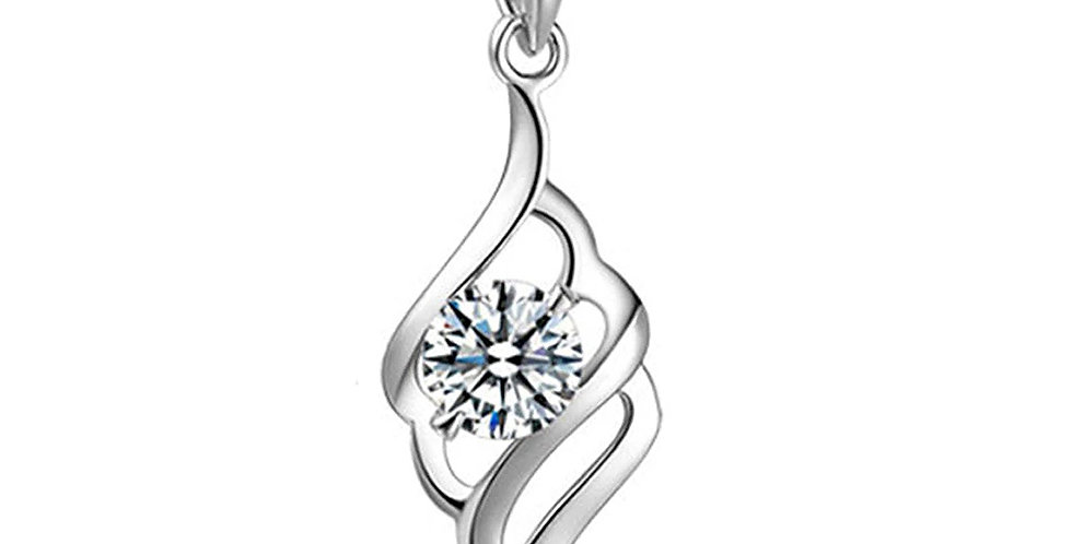 SilverShoppee My love Sterling Silver Pendant With Chain for Girls and Women