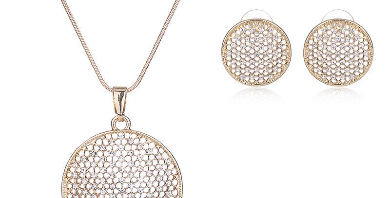 Silver Shoppee Gold Plated Jewellery Set for Women (Golden) (SSJS2101B)