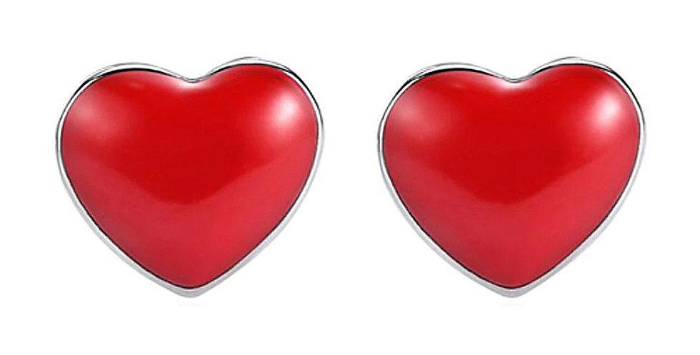 Silver Shoppee Silver Plated Jhumki Earrings for Women (Red) (SSER1486)