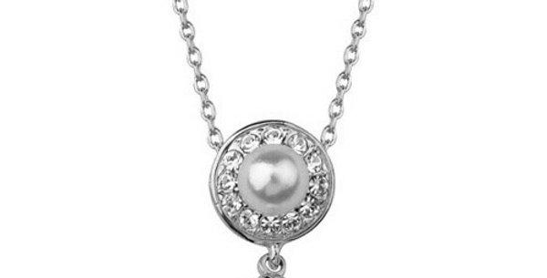 Silver Shoppee Pendant for Women (Silver Beige) (SSPD0227A)