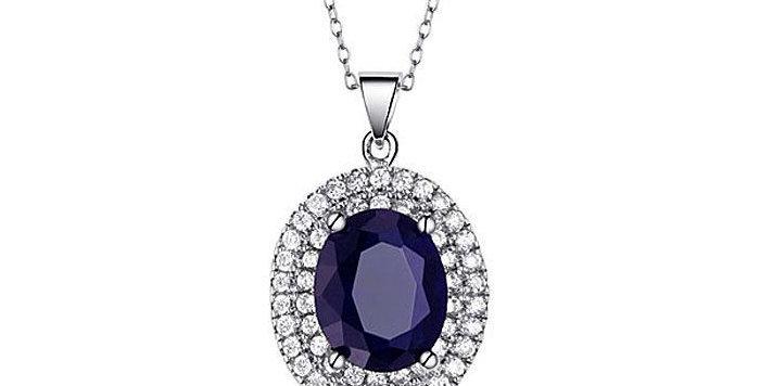 Silver Shoppee Pendant for Women (Blue) (SSPD0535)