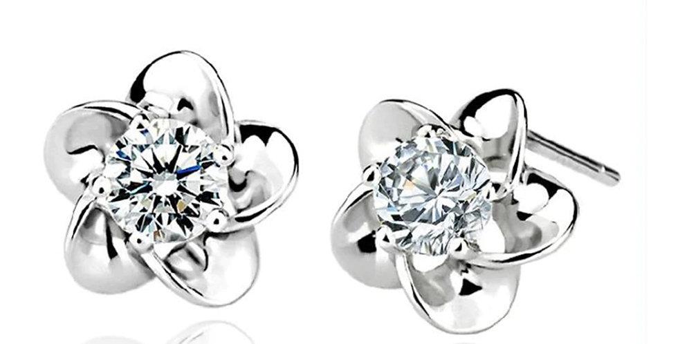 Sterling Silver Earrings for Baby Girls, Girls and Women (SSER1511)