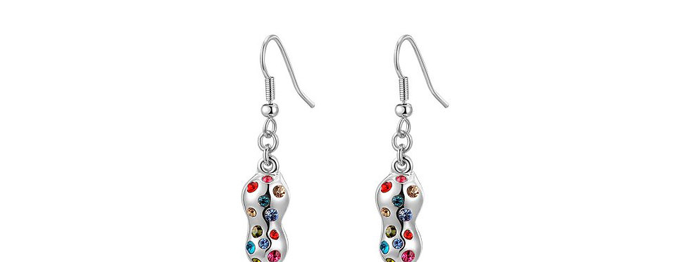 Waves of wonder Austrian Crystal Sterling Silver Earrings for Girls