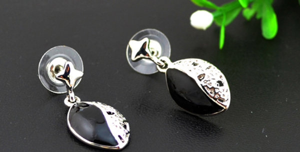 Silver Shoppee Poise Rhodium Plated K Alloy Drop Earring for Girls and Women